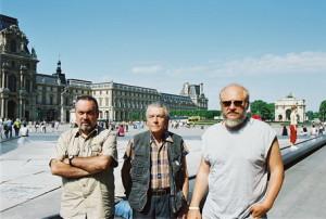 Mai 2005 - Waldemar Mattis-Teutsch, Liviu Cihodaru et Gabriel Stan à Paris