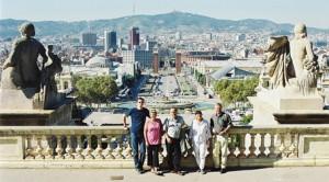 Septembre 2002 - Calin, Mariana, Sorin, Ana-Ruxandra et Michel à Barcelone
