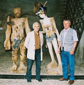 juin 2006 - Ion Nicodim et Michel Gavaza, et Adam et Eve