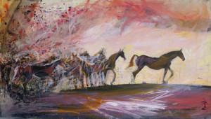 cai _pictura acrilic pe panza _autor Alina Manole
