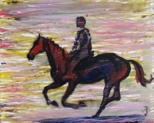 calaret_pictura acrilic pe panza_50 pe 40 cm_autor Alina  Manole