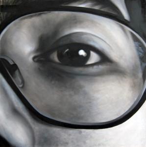 Lens, 100-100cm, 2010, oil on canvas