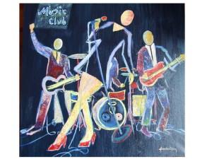 Music Club 80x80 cm ulei pe panza; 2009, 450 euro
