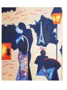 Paris 100x120 cm ulei pe panza; 600 euro, 2010
