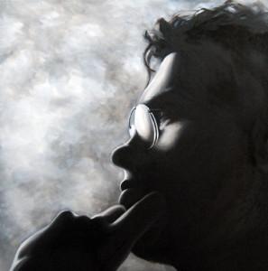 Shadowed Dimi, 100-100cm, oil on canvas