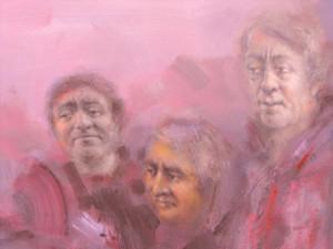 detaliu 3 portrete