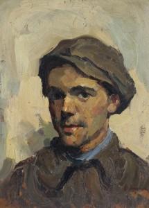 Autoportret , Un vagabond semnat si datat dr. jos 1922 ( Muzeul de Arta Iulian Antonescu  Bacau )