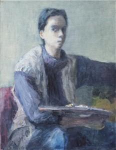 Nadina Pascariu_Autoportret cu paleta