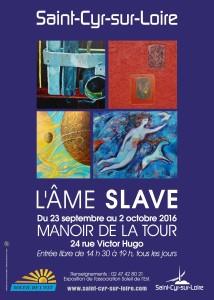 Affiche expo - L'ÂME SLAVE