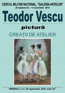 Afis vernisaj Teodor Vescu