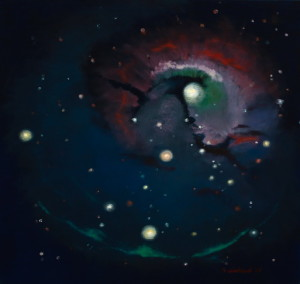 Fenomen Galactic I,ulei pânză,90x90 cm